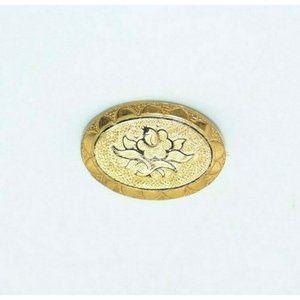 Gold Filled Taille d'épargne Flower Pin Brooch Art